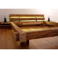 Эксклюзивная кровать в стиле лофт из бруса