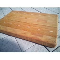 Торцевая разделочная доска из сибирской лиственницы 49/31/4 см