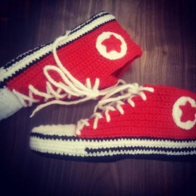 Носки кеды конверсы красные