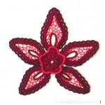 Мастер класс по вязанию авторского элемента Цветок 3 для ирландского кружева