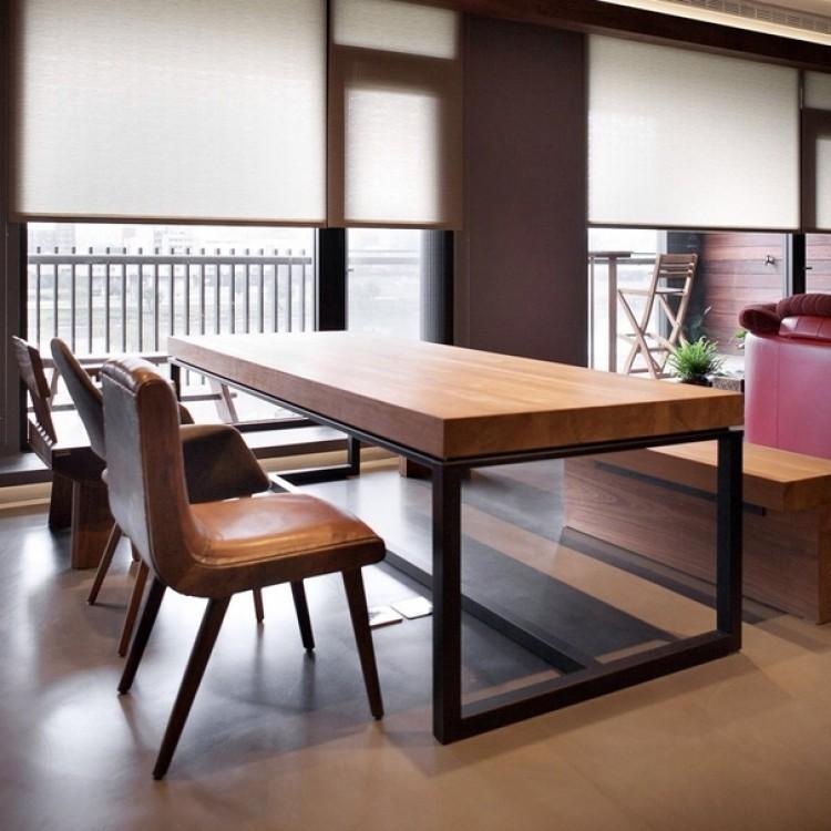 Обеденный стол на кухню в стиле Loft на заказ.