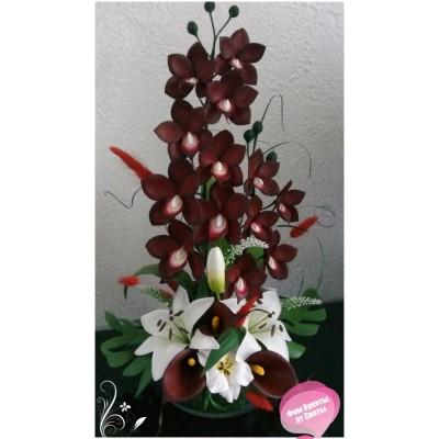 Мастер класс по изготовлению орхидеи дракула из фоамирана
