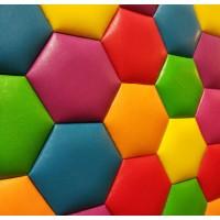 Мягкие стеновые панели 3D из ткани, кожи, экокожи