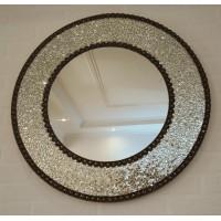 Круглое мозаичное зеркало